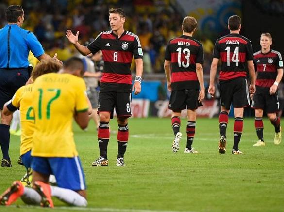 Partido de fútbol entre Brazil y Alemania en la Copa Mundial del 2014