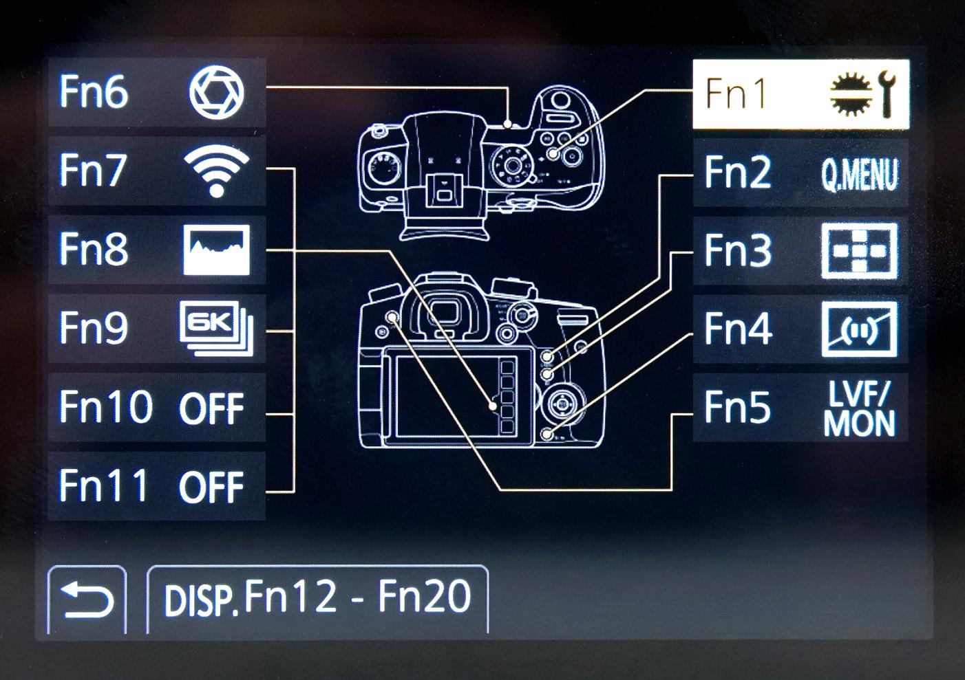 Настройка функциональных кнопок Panasonic Lumix GH5