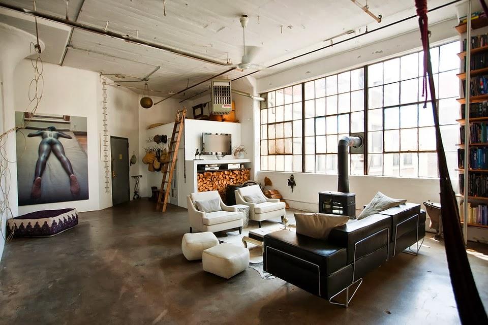 De c lie modern loft with industrial accents brooklyn - Brooklyn apartment interior design ...