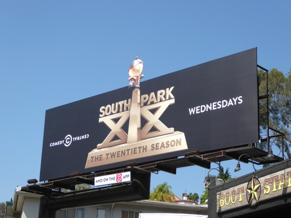 South Park season 20 trophy extension billboard