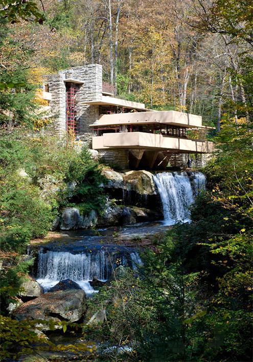 Jos Miguel Hernndez Hernndez Fallingwater House Casa de la Cascada Fayette County Mill