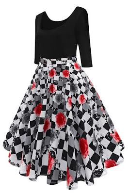 https://www.chicloth.com/collections/vintage-dresses/products/b-chicloth-black-and-white-plaid-red-floral-print-summer-dress/?utm_source=blog&utm_medium=marialuisa&utm_campaign=blogpost