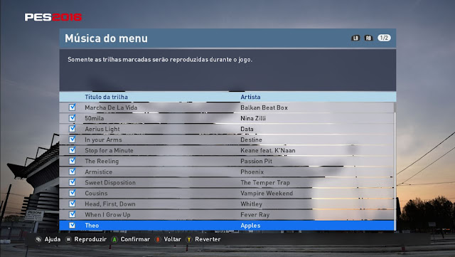Soundtrack PES 2011 for PES 2016 - PATCH PES | New Patch Pro