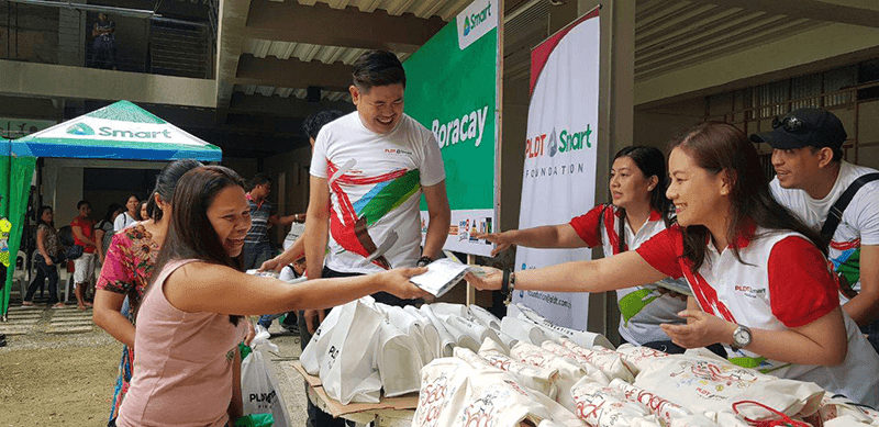 Smart reached out to the people of Boracay
