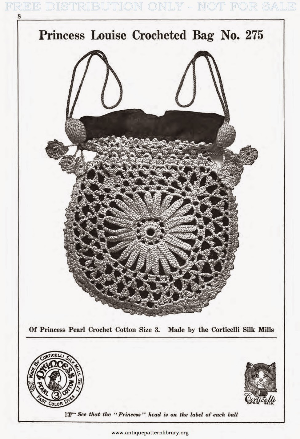 Crochetology by Fatima: Princess Louise Bag 1917