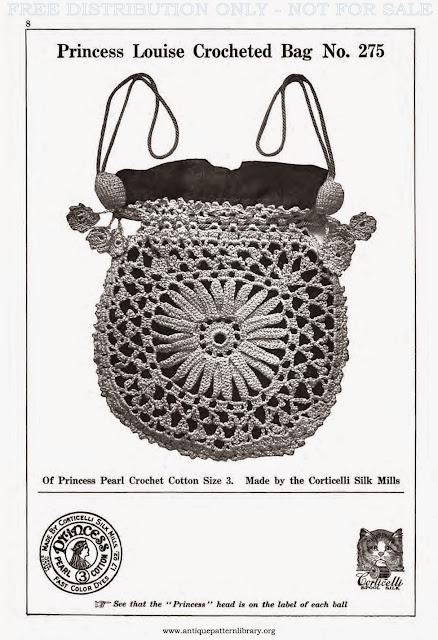 Crochetology by Fatima: Princess Louise Bag 1917