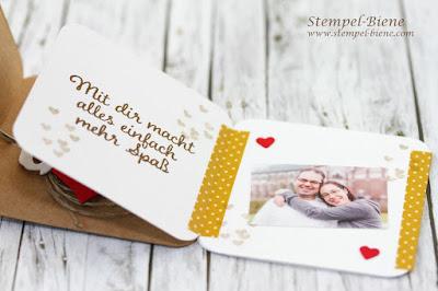Team Stempel-Biene; Stampin' Up Winterkatalog 2016; Stampin up Cookie Cutter Halloween; Lebkuchenmännchen; Minileporello; Minialbum; Framelits Formen Einfach aufgehängt