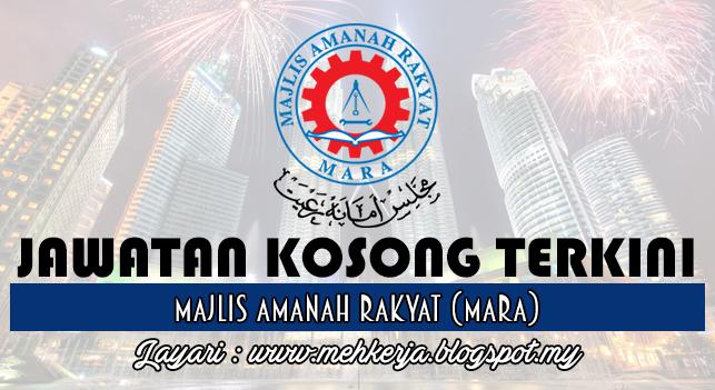 Jawatan Kosong Terkini 2016 di Majlis Amanah Rakyat (MARA)