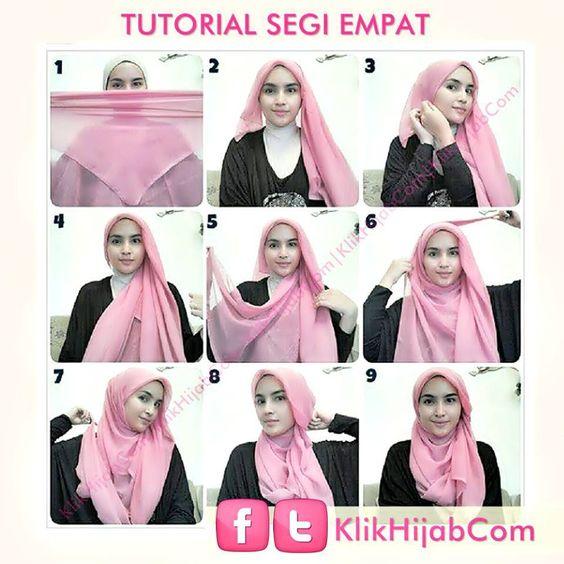 Tutorial Hijab Segi Empat Simple Beauty J