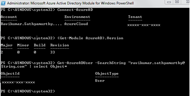 Download azure ad powershell module v1 | How to install the