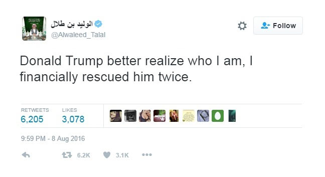 Check out how Saudi Arabian prince succumbed to Donald Trump