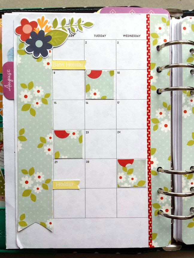 The Lilac Diary August Planner Decorating