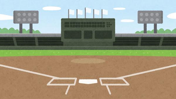 野球場のイラスト(背景素材)