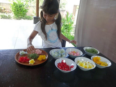 NAMC Montessori Practical Life Culture Studies Making Daily Offering Canang Sari Offering Bali