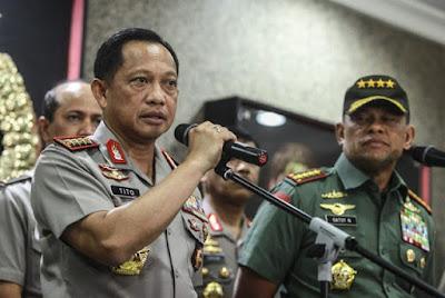 tito Kapolri dan gatot Panglima TNI