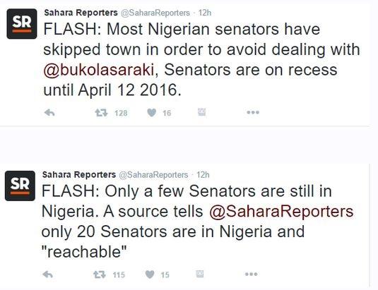 CCT Trial: Senators Desert Saraki, Jet Out of Nigeria