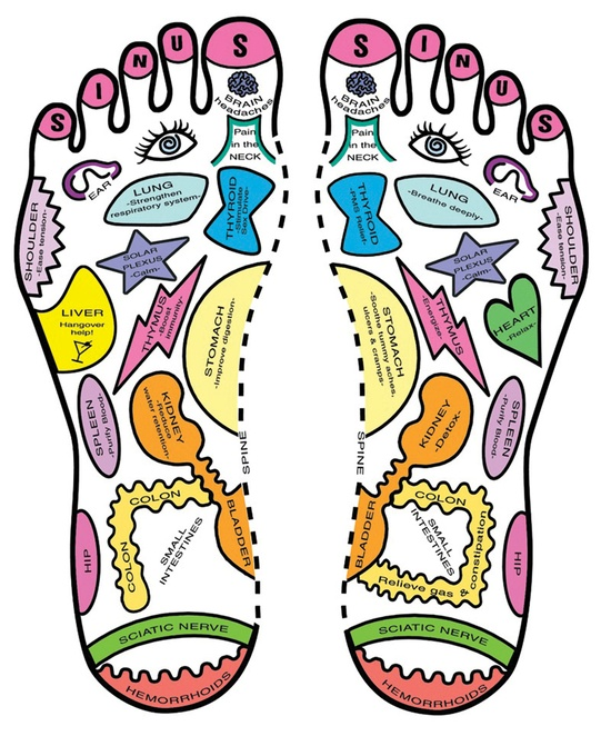 Reflexology diagram