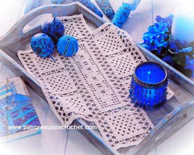 10 Patrones de carpetas caminos de mesa y cortinas para tejer con ganchillo  Patrones para Crochet