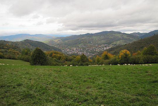Widok na Szczawnicę z Cyrhle.