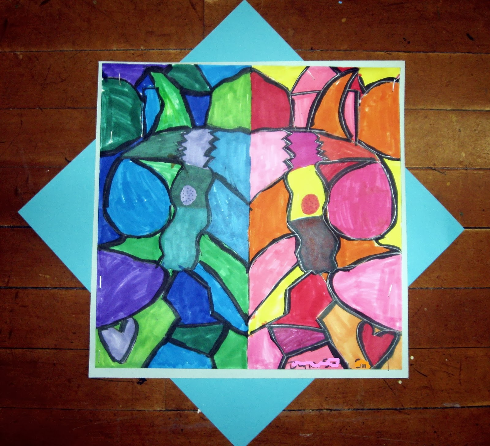 Symmetrical Warm And Cool Compositions 3rd Grade