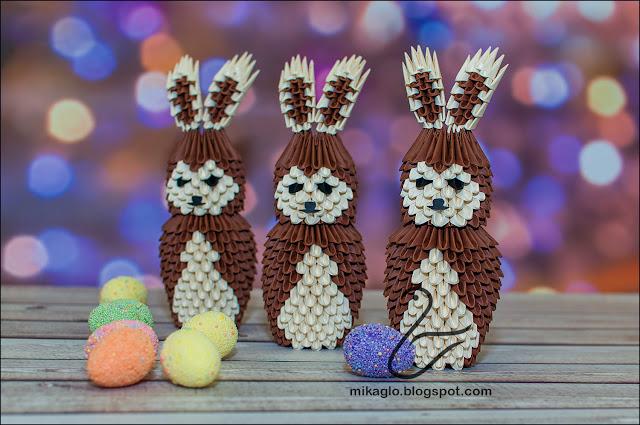660. Zające z origami / 3d origami bunnies