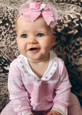 JoJo Maman Bebe, pink smocked sleepsuit, Darcie, baby girl