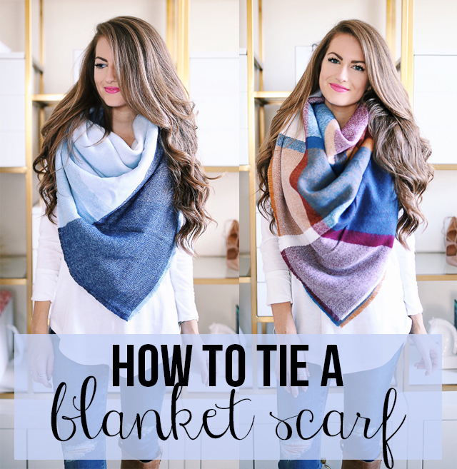 Quick tutorial how to tie a blanket scarf southern curls pearls quick tutorial how to tie a blanket scarf ccuart Image collections