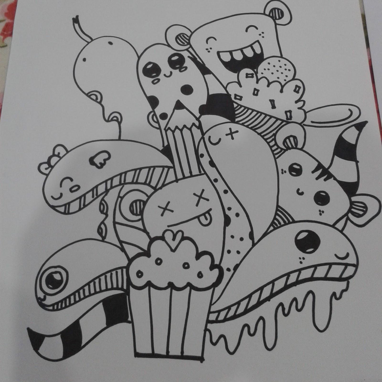Gambar Doodle Vespa  Terkini Banget