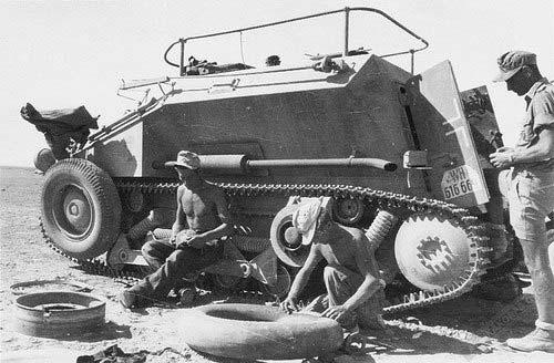 Средний разведывательный колёсно-гусеничный бронеавтомобиль Sd.Kfz. 254 с рамочной антенной