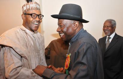 2015 buhari jonathan poll - 9JA NEWS: Buhari And APC felicitate with Jonathan at 60