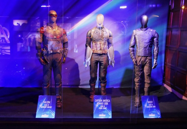 Avengers Infinity War movie costume exhibit