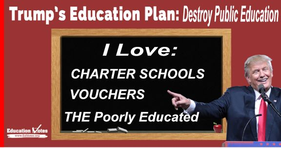 Image result for donald trump & charter schools