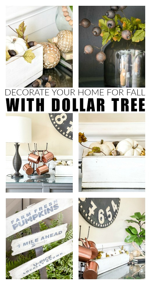 how to decorate your home for fall with dollar tree little house