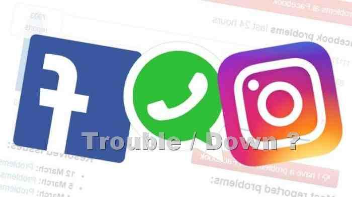 WA IG dan FB trouble atau down