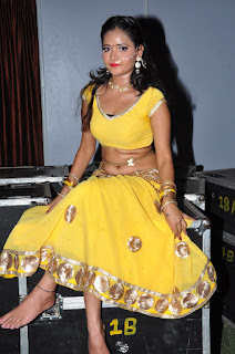 Shrey Vyas in a Lovely Yellow Ghagra Choli Spicy Stills from her Item song shoot