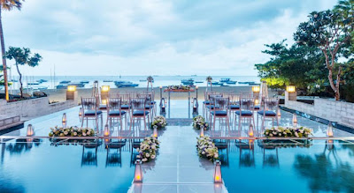 Lokasi Makan Malam Romantis di Mantra Sakala Resort and Beach Club Bali