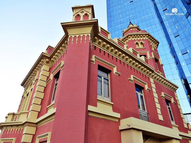 Perspectiva inferior do Palacete Conde de Sarzedas - Sé - São Paulo
