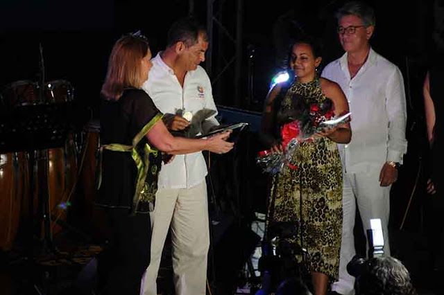 Recibe presidente cubano a su homólogo de Ecuador (+Fotos)