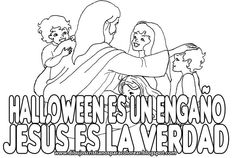 No Al Halloween Cristianos Para Colorear | Hallowen.org