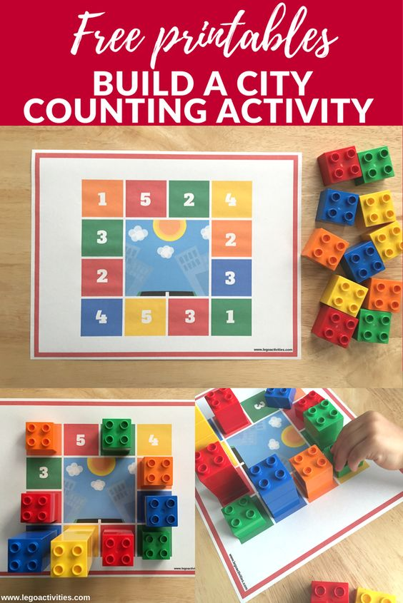 Build a city counting activity with LEGO