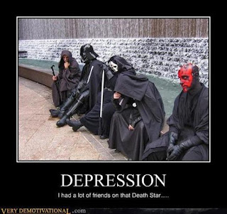 Star Wars Demotivational Poster: Depression Friends On The Death Star
