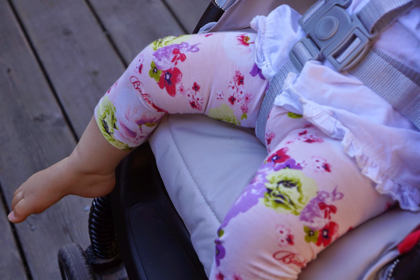 ted baker floral tights on baby