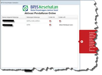 Halaman aktivasi pendaftaran bpjs online