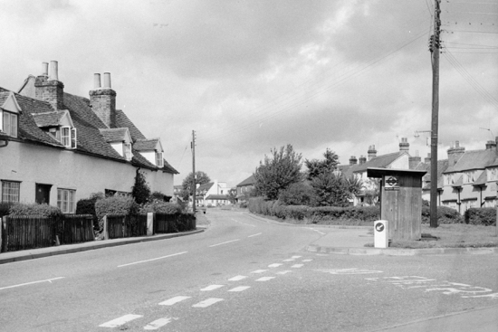 Photograph of Nash's Corner Welham Green in 1970