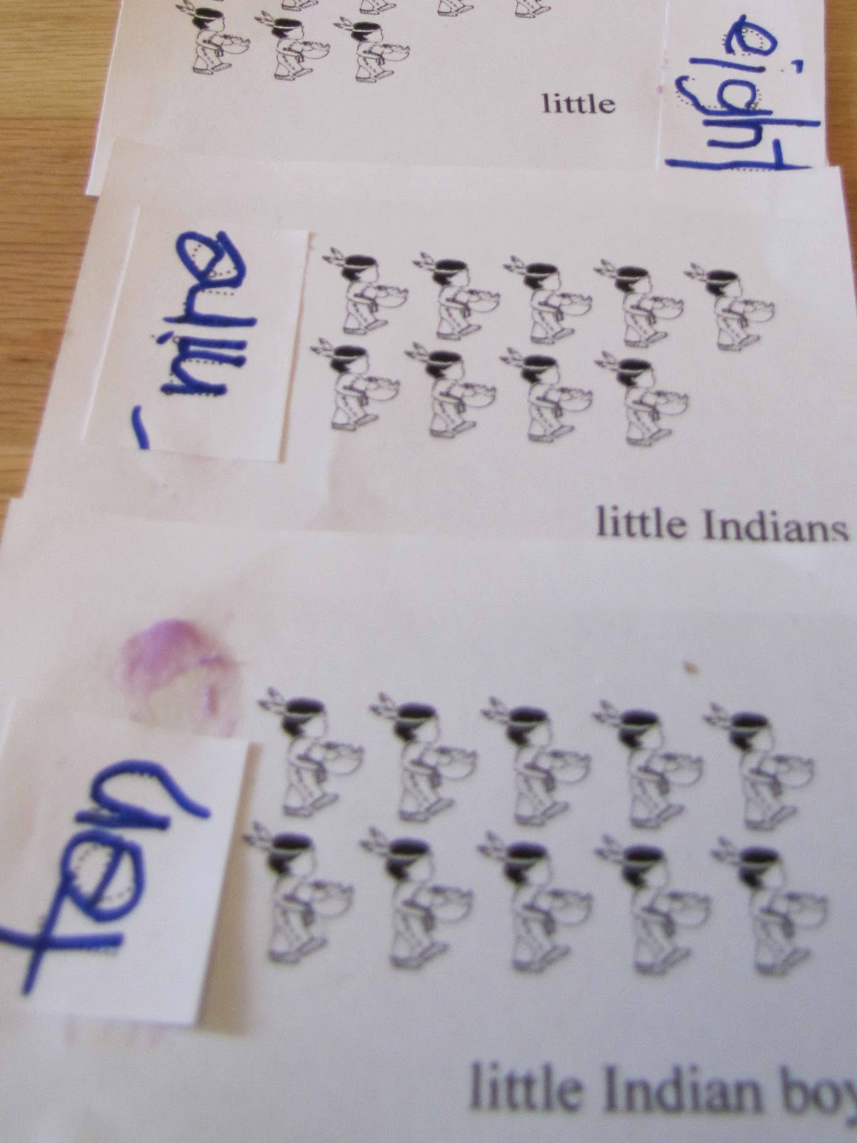 Indian Pictograph Worksheet