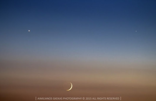 See it! Moon, Venus, Jupiter, comet