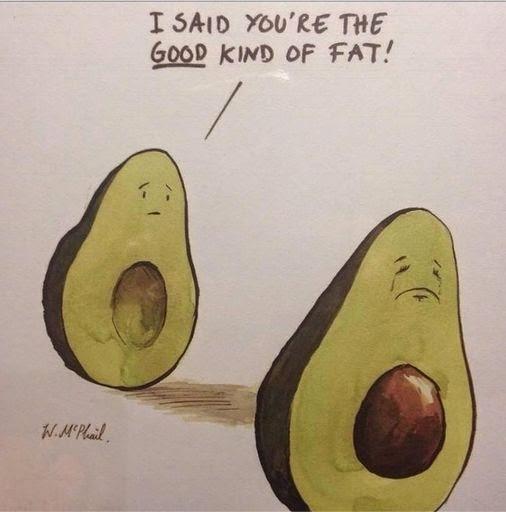 Funny Good Fat Avocado Fail Joke Picture Cartoon