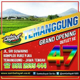 Sambel Layah: Outlet 47 ada di Temanggung