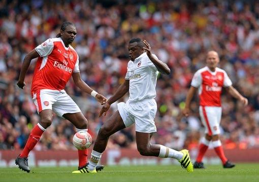Arsenal Legends 4 - AC Milan Legends 2: Kanu Nwankwo scores hattrick