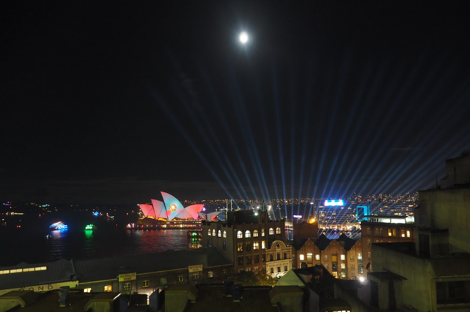 Vivid Sydney From Harbour Bridge